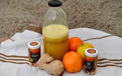 Power-Shot mit Ingwer – Kurkuma – Zitrone – Orange