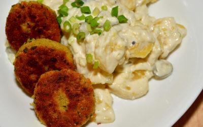 veganer Kartoffelsalat mit Falafel: traditionell aber gesund